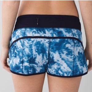 Lululemon Run Speed Short Sea Side Blue Shorts 6
